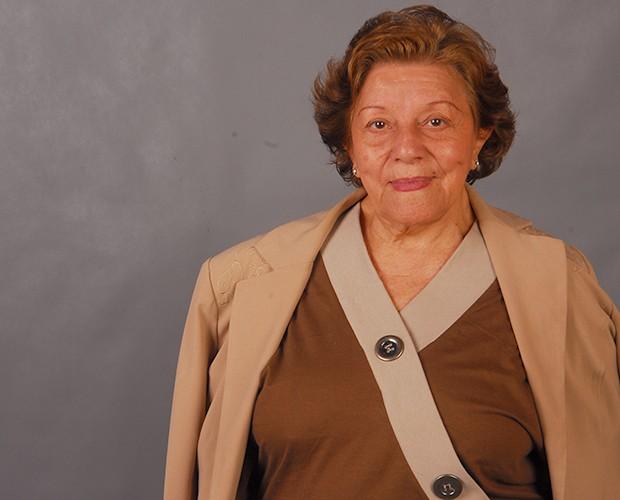 Selma Lopes atuando na novela Cama de Gato, em 2009 (Foto: Márcio de Souza/TV Globo)