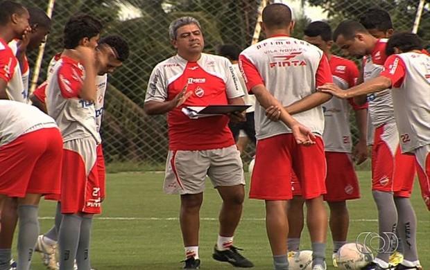 Hermógenes Neto treino Vila Nova (Foto: Reprodução/TV Anhanguera)