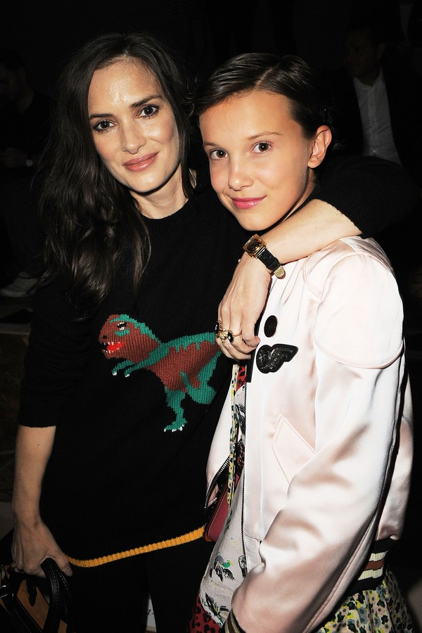 Winona Ryder e Millie Bobby Brown (Foto: Getty Images)