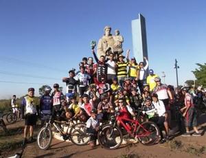 Ciclistas em Mato Grosso (Foto: Divulgação)