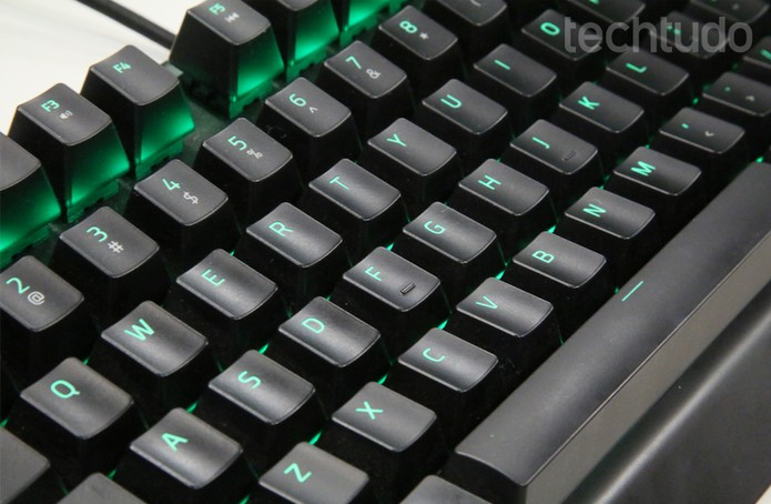 Teclado Razer Blackwidow X Tournament Edition Chroma (Foto: Anna Kellen / TechTudo)