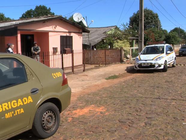 Assassinato Cruz Alta suicídio morte (Foto: Reprodução/RBS TV)