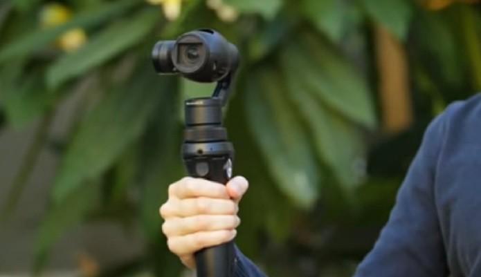 Câmera da DJI tem estabilizador de imagem inteligente (Foto: Reprodução/Youtube)