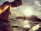 Klebber Toledo posta foto com Marina Ruy Barbosa no mar