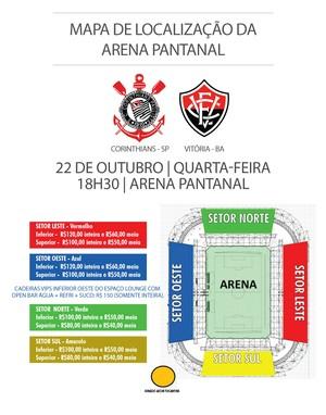 89e64713ec Corinthians x Vitória  ingressos à venda para o jogo em Cuiabá