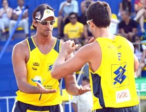 Ricardo e Pedro Cunha võlei de praia Belo Horizonte (Foto: Mauricio Kaye / CBV)