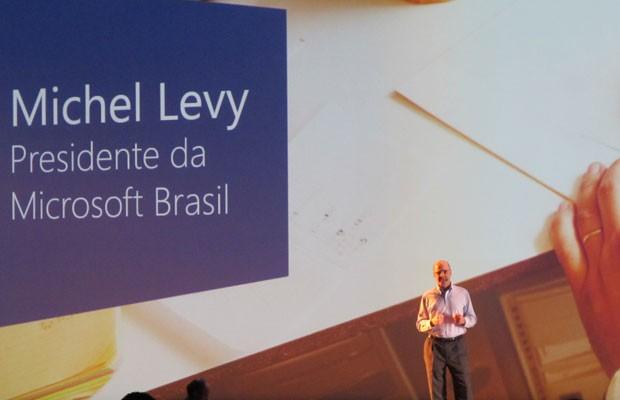 Michel Levy, presidente da Microsoft no Brasil, participou do evento de lançamento em São Paulo (Foto: Gustavo Petró/G1)