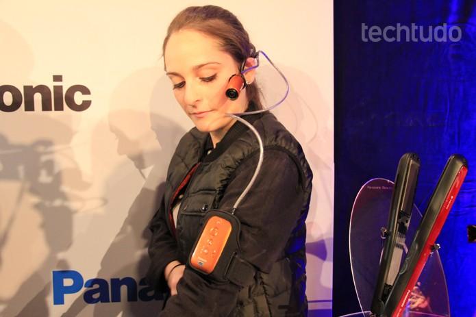 Câmera vestível é novidade da Panasonic (Foto: Monique Mansur/TechTudo)