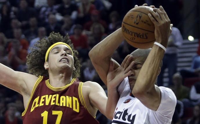 Anderson Varejão Cleveland x Portland NBA - AP (Foto: AP)