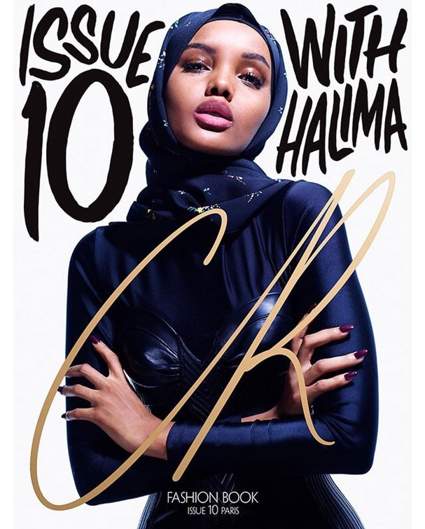 Halima Aden na capa da décima edição da CR Fashion Book (Foto: Reprodução Instagram)