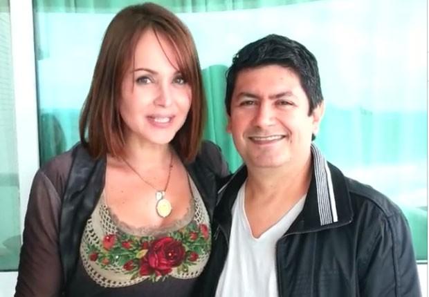 Gaby Spanic e o empresário, Deva Santos (Foto: Reprodução/Instagram)