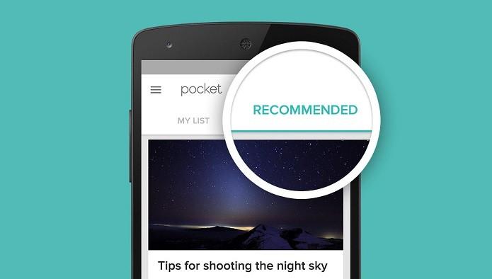 Pocket agora oferece recomendações de conteúdo (Foto: Divulgação/Pocket)
