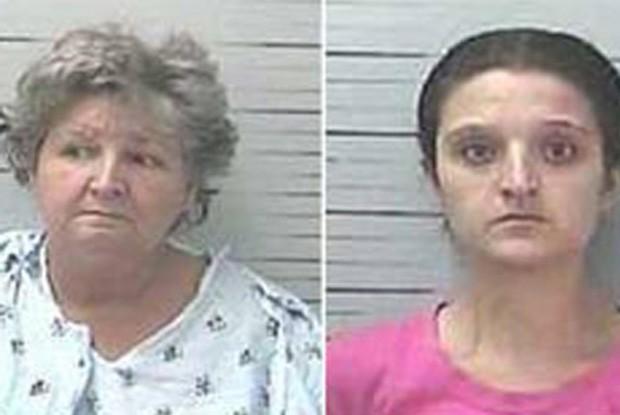 Evie Mearlene Herrin usou da ajuda da filha Amelia Darci Crew para roubar 4 bancos nos EUA (Foto: Divulgação/Louisiana State Police)