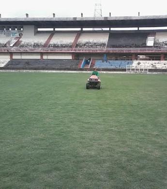 Bombeiros e Vigilância Sanitária farão visita no Estádio Colosso do Tapajós nesta quarta-feira (12) (Foto: Divulgação/ Semjel)