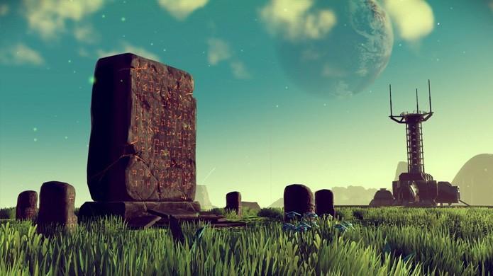No Mans Sky não tem uma história ativa, mas artefatos alienígenas intrigarão jogadores e os guiarão ao centro do universo (Foto: Reprodução/Wired)