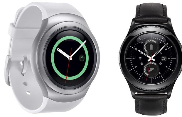 ef01685117b Novo modelo de relógio digital da Samsung Gear S2 (Foto  Divulgação)