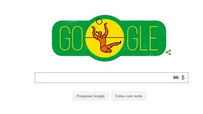 Voleibol sentado é um dos esportes lembrados pelo doodle do Dia da Independência (Foto: Reprodução/Gabriel Ribeiro)