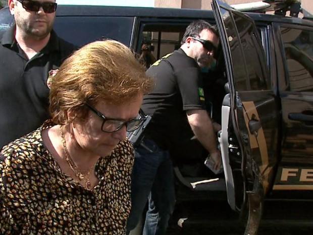 A ex-advogada do Sindicato dos Servidores, Maria Zuely Alves Librandi, presa em Ribeirão (Foto: Reprodução/EPTV)