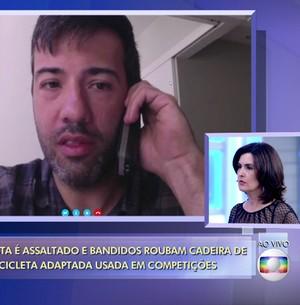 Paraplégico é assaltado por homens armados (TV Globo)