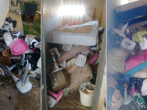 Como castigo, Sejuc recolheu ventiladores e colchões dos presos (Foto: Sejuc/Divulgação)