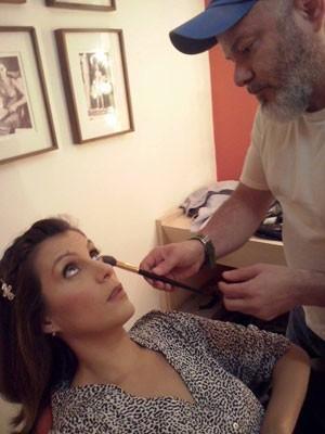 Carol Levy usa maquiagem 3D durante o programa (Foto: Divulgação)
