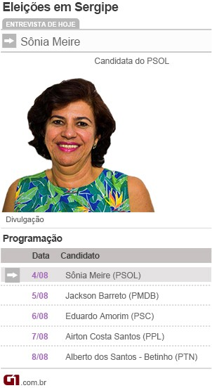 Arte Sônia Meire (Foto: Arte/TV Sergipe )