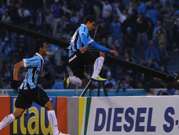 André Lima comemora o gol do Grêmio (Foto: Lucas Uebel/Divulgação, Grêmio)