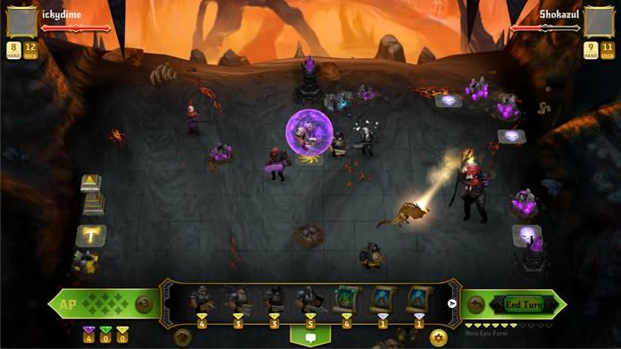As partidas de Conquest of Champions apresentam gráficos fracos e efeitos sonoros repetitivos e monótonos (Foto: Divulgação/ Kihon Inc.)