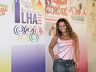 Gracy Barbosa, Sabrina Sato e Vivi Araújo gravam programa no Rio