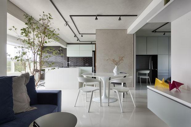 Um apartamento jovem e minimalista de 78 m em belo for Decoracion apartamento pequeno estilo minimalista