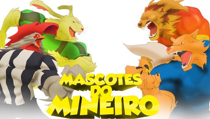 """Arte para a série """"Mascotes do Mineiro"""" (Foto: Arte TV Globo Minas)"""