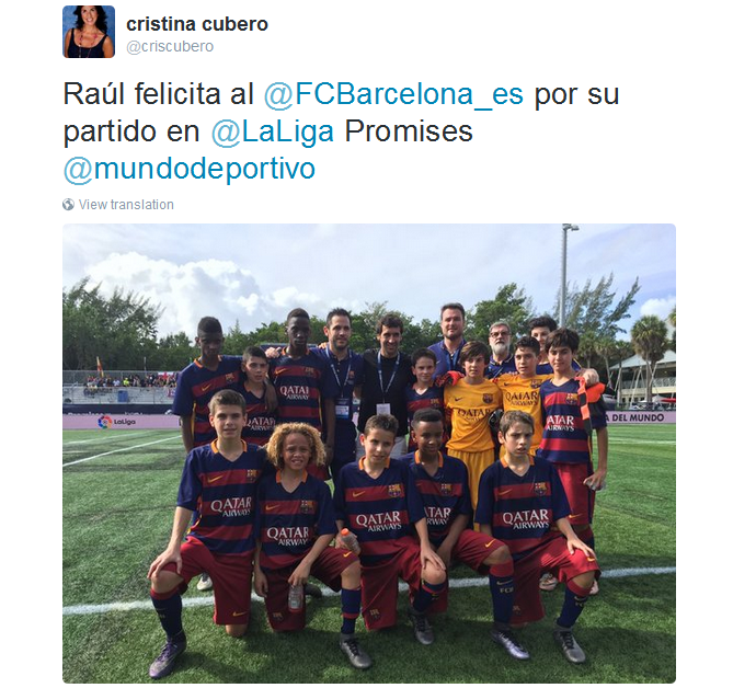 BLOG: Foto de Raúl com meninos da base do Barcelona gera polêmica em Miami
