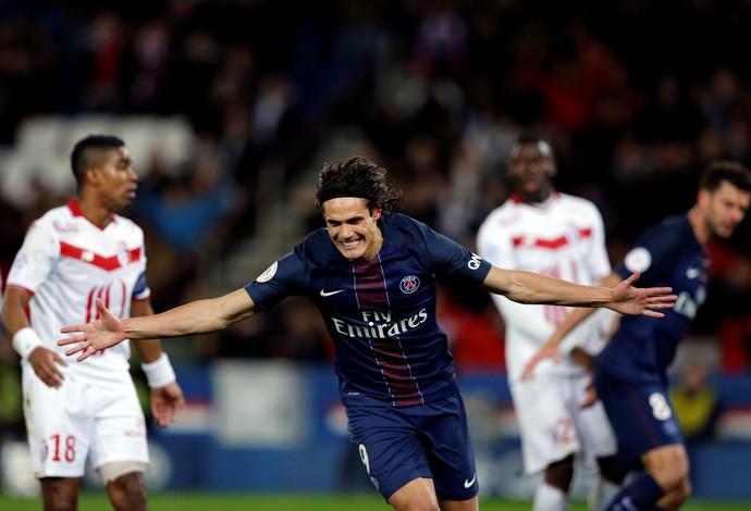 Cavani, PSG x Lille (Foto: REUTERS/Benoit Tessier)