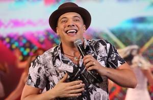 Wesley Safadão no palco do 'Domingão do Faustão' (Foto: Carol Caminha/Gshow)