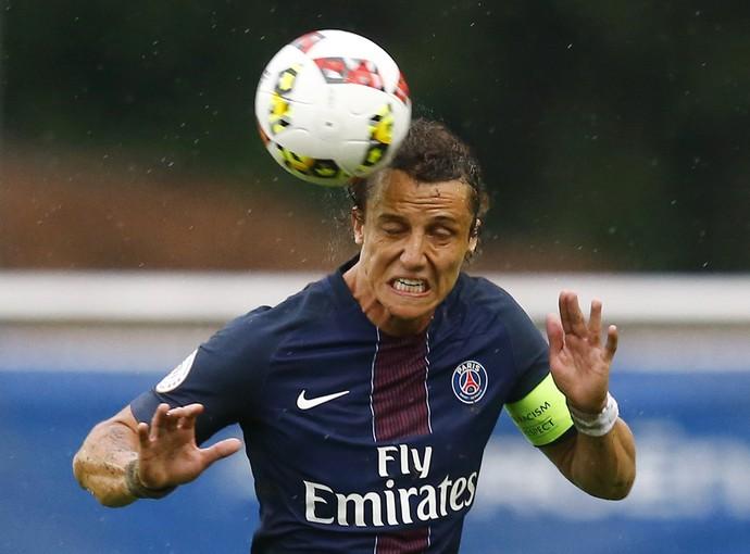 David Luiz PSG com novo visual  (Foto: Reuters)