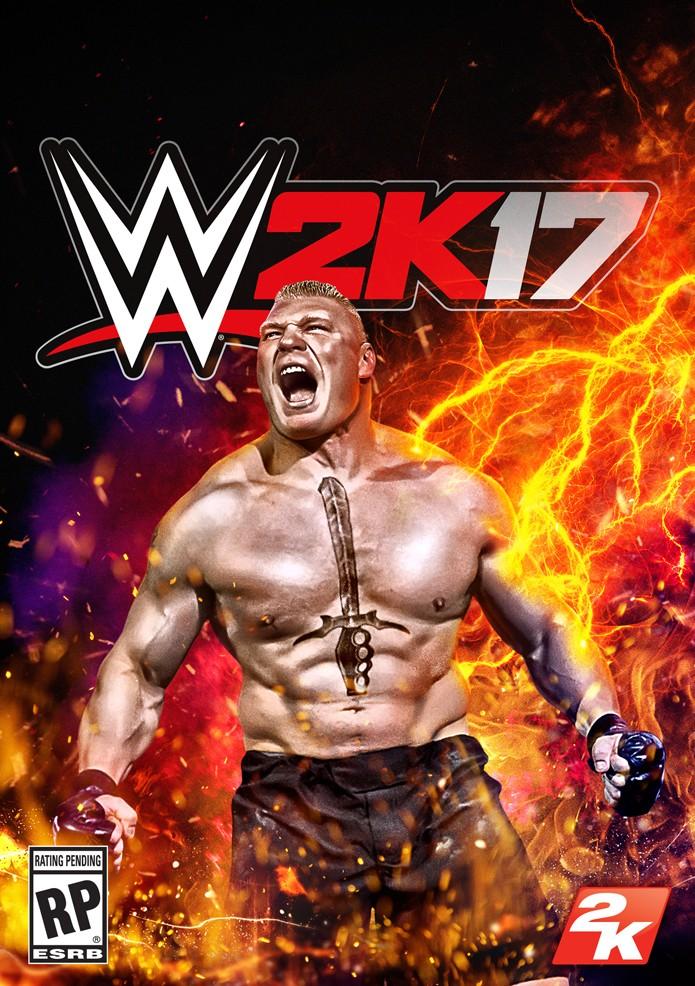 Estrela do wrestling e MMA, Brock Lesnar é a estrela de WWE 2K17 (Foto: Divulgação/2K Games)