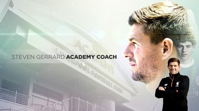 Gerrard técnico divisões de base Liverpool (Foto: Divulgação)