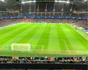 """Gabriel Jesus torce pelo Manchester City no estádio: """"Vontade de jogar"""""""