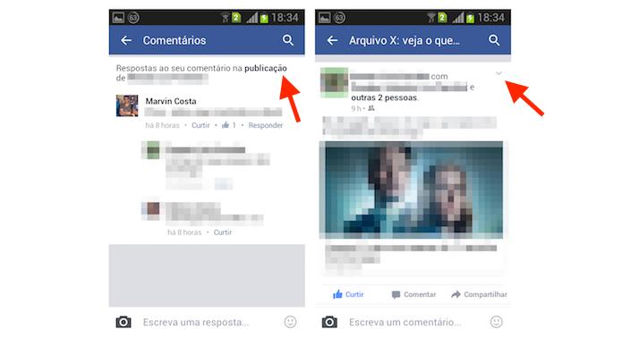 Acessando uma publicação onde o usuário foi marcado para desativar as notificações (Foto: Reprodução/Marvin Costa)
