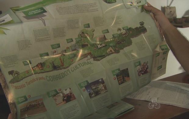 Mapas dão a rota dos pontos turísticos mais visitados no Acre (Foto: Reprodução TV Acre)