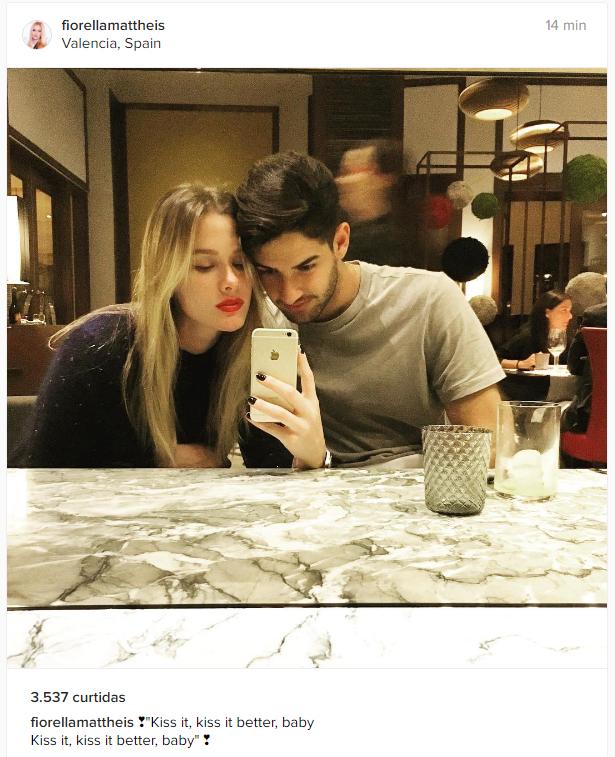 BLOG: Fiorella posta foto em clima de romance com Alexandre Pato na Espanha