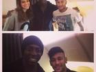 Bruna Marquezine e Neymar posam dentro do avião