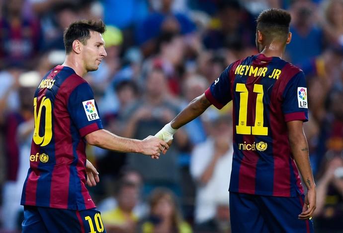 messi neymar barcelona x grana (Foto: Getty Images)