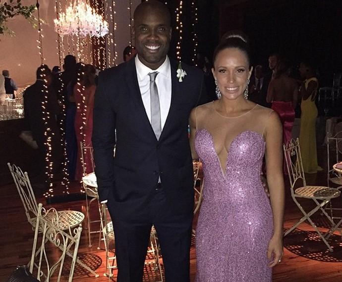 Zulu e Erys no casamento de Thiaguinho e Fernanda Souza (Foto: Arquivo Pessoal)