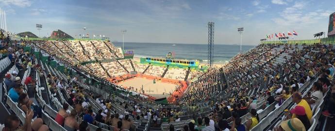 Arena Vôlei de Praia; Copacabana (Foto: Gabriel Fricke)