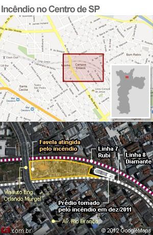 mapa favela moinho (Foto: Arte/G1)