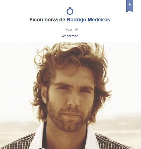 Rede social do ator também exibe a mensagem do noivado (Foto: Reprodução/Facebook)