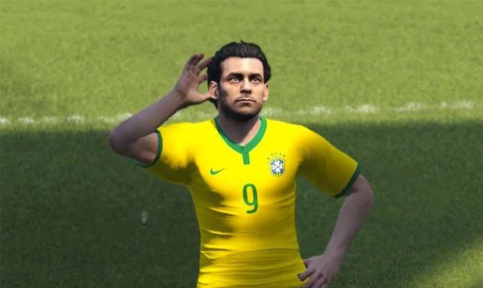 Fred é destaque em partida entre Brasil e Alemanha no PES 2015 (Foto: Reprodução) (Foto: Fred é destaque em partida entre Brasil e Alemanha no PES 2015 (Foto: Reprodução))