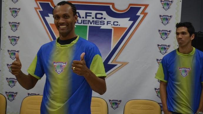 Goleiro Rocha assina com o Ariquemes (Foto: Franciele do Vale)