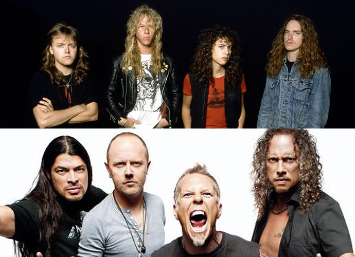 Nos anos 90, o Metallica passou a tesoura na cabeleira (Foto: Divulgação)